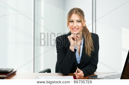 Portrait of a businesswoman at work