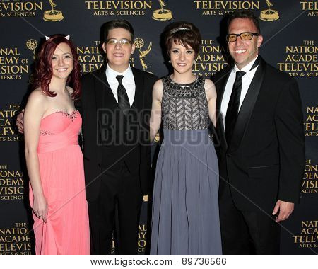 LOS ANGELES - APR 24: Matt Englebert, Eli Englebert at The 42nd Daytime Creative Arts Emmy Awards Gala at the Universal Hilton Hotel on April 24, 2015 in Los Angeles, California