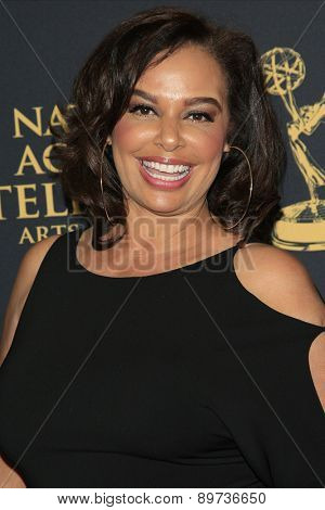 LOS ANGELES - APR 24: Pam Farmer at The 42nd Daytime Creative Arts Emmy Awards Gala at the Universal Hilton Hotel on April 24, 2015 in Los Angeles, California