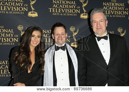 LOS ANGELES - APR 24: Paul Goodenough, Richard Bazley at The 42nd Daytime Creative Arts Emmy Awards Gala at the Universal Hilton Hotel on April 24, 2015 in Los Angeles, California