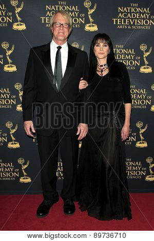 LOS ANGELES - APR 24: John Tesh, Connie Selleca at The 42nd Daytime Creative Arts Emmy Awards Gala at the Universal Hilton Hotel on April 24, 2015 in Los Angeles, California