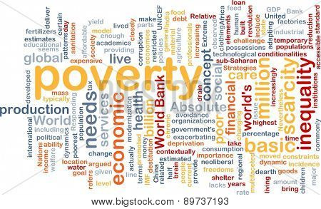 Background text pattern concept wordcloud illustration of poverty
