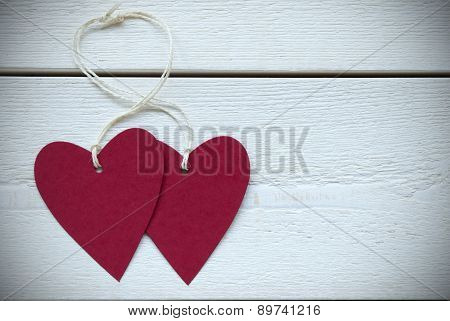 Two Hearts Label With Copy Space Frame