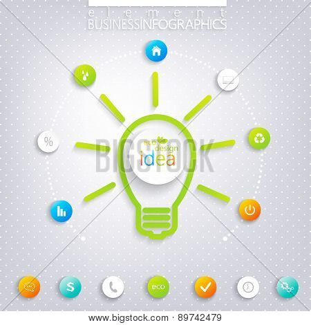Modern infographic design with place for your text. Business concept 3, 4 options.
