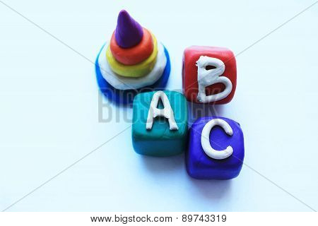 Vector image of children toys