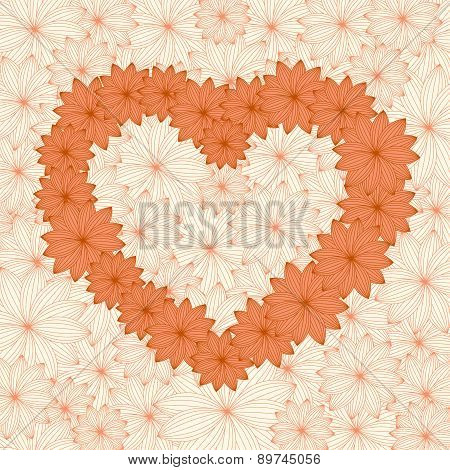 Floral Decorative Heart Background