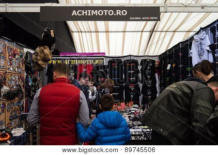 T-shirts Being Sold At A Booth At Bucharest Auto Show, April 4 2015.