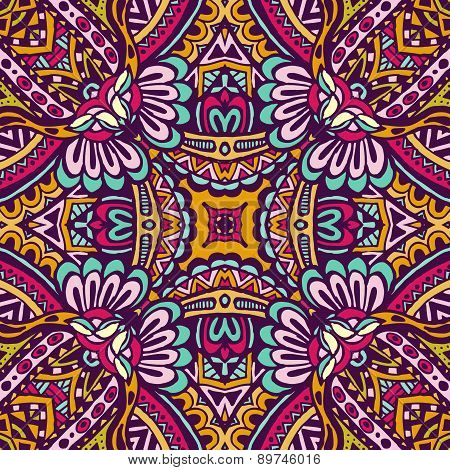 Vector Ethnic Abstract Seamless  pattern