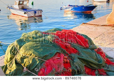 Old port of Monopoli. Puglia. Italy.