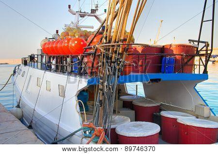 Fishing boat. Monopoli. Puglia. Italy.