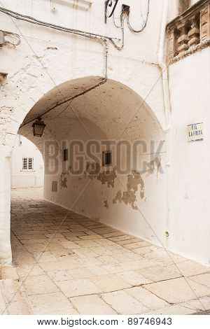 Tipical Tunnel In Apulia Town