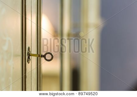 Key in the door lock