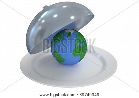 Traveling Concept, Earth On Platter