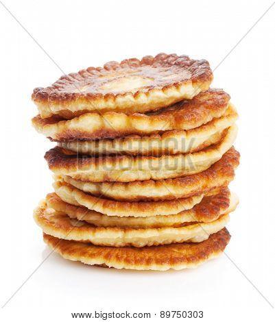 Pancakes. Isolated on white background