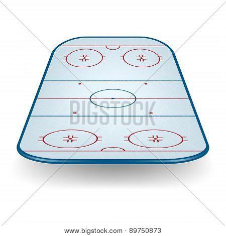 Vector Ice Hockey Field