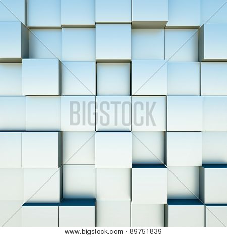 Abstract background with cubes. 3D render.