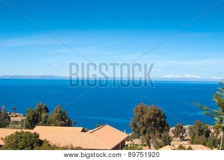 Titicaca lake in Peru, South America