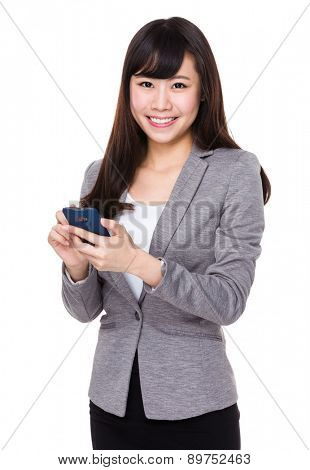 Young businesswoman use of cellphone