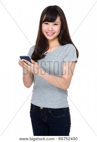 Woman use of smartphone