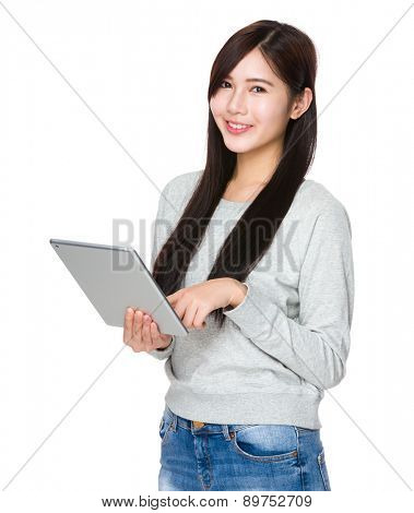 Woman use of digital tablet