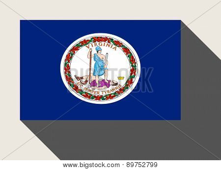 American State of Virginia flag in flat web design style.