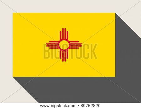 American State of New Mexico flag in flat web design style.
