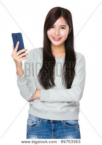 Asian woman use of smartphone