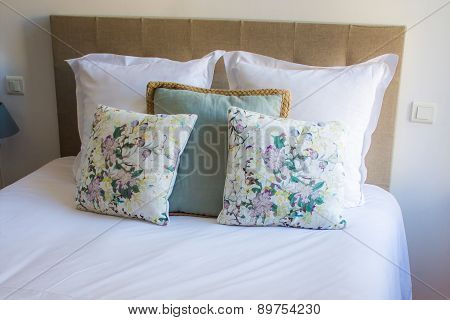 Soft Pillows On A Comfortable Bed