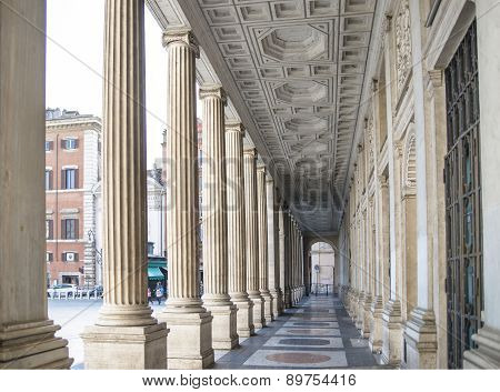 Beautiful Colonnade Of Rome