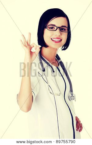 Young beautiful female doctor smiling