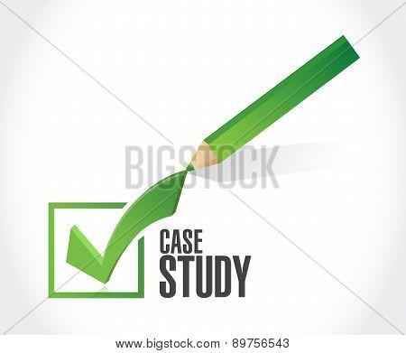 Case Study Check Mark Sign Concept