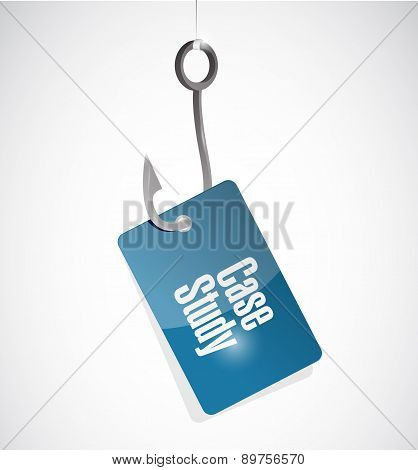 Case Study Hook Tag Sign Concept