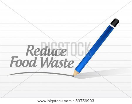 Reduce Food Waste Message Sign Concept