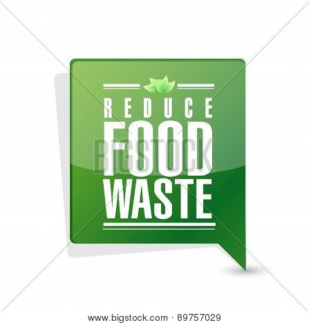 Reduce Food Waste Message Pointer Sign Concept