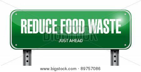 Reduce Food Waste Post Sign Concept