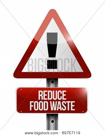 Reduce Food Waste Warning Road Sign