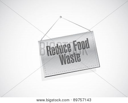 Reduce Food Waste Banner Sign Concept
