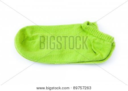 pair of striped socks isolated on white