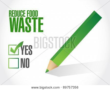 Reduce Food Waste Approve Sign Concept