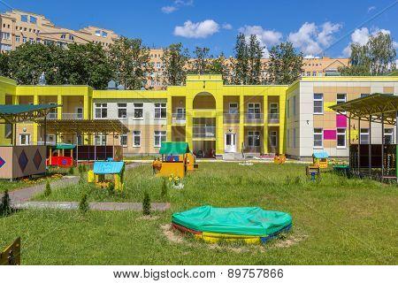 Children Playground In Play School Yard