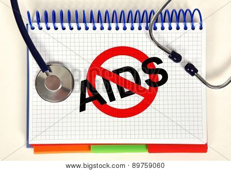 Book With Stop Aids Symbol