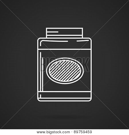 White line vector icon for nutrition supplements