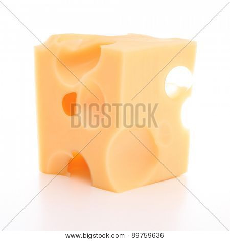 cheese isolated on white background cutout