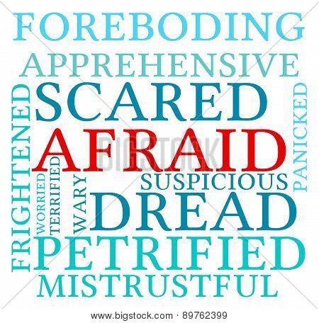 Afraid Word Cloud