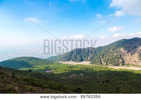 Mountain Landscape Next To Vesuvius Volcano