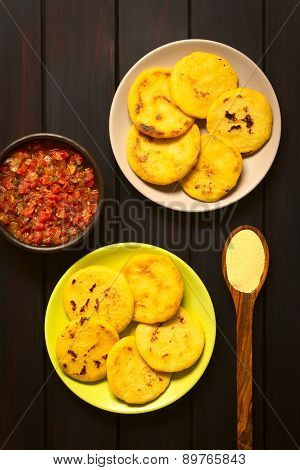 Arepas with Hogao Sauce
