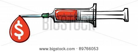 Syringe With Drop