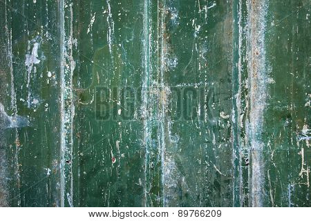 Green grungy old metal background
