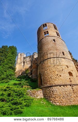 Tower of Beaufort castle in Luxembourg