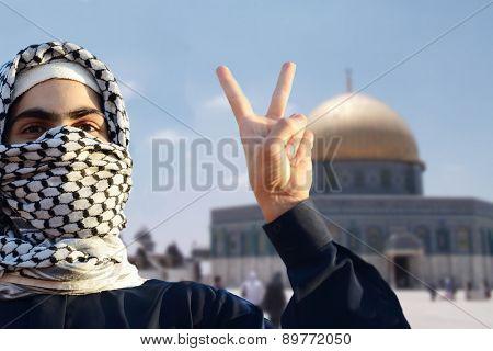 Arabic young man in Jerusalem Quds